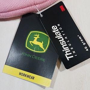 John Deere Accessories - John Deere WorkWear Knit Pink Hat